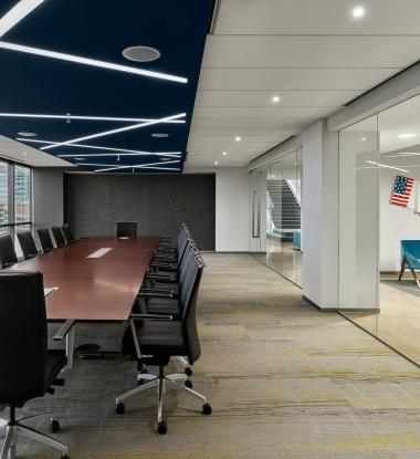 EDGE 3 Recessed Custom Pattern & Angles Conference Room