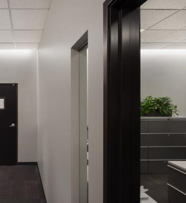 EDGE Outline in Hallway and Small Office Space